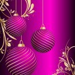 Stylized vector Christmas ball on decorative background — Stockvektor