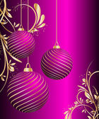 Stylized vector Christmas ball on decorative background — Stock Vector