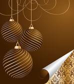 Stilisierte Vektor Christmas Ball auf dekorativen Hintergrund — Stockvektor