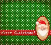 Vector Santa Claus vintage Christmas card — Stock Vector