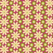 Vector flower pattern background — Stock Vector