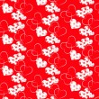 Abstract Valentines day vector pattern background — Imagens vectoriais em stock