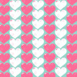 Abstract Valentines day vector pattern background — Stock Vector #14864863