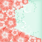 Abstract vector flower background — Stock Vector