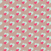 Abstract Valentines day vector pattern background — Stock Vector