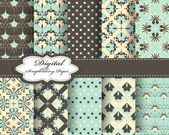 Set of vector pattern paper for scrapbook — Vecteur
