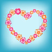 Vector flower heart — Stock Vector