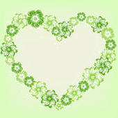 Vector flower heart — Vector de stock