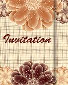 Carte d'invitation avec fleurs — Vecteur