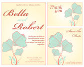 Wedding or invitation card. abstract vector flower pattern backg — Stok Vektör