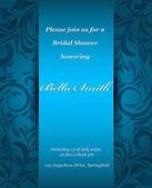 Bruiloft of uitnodiging kaart. abstract vector bloem patroon backg — Stockvector