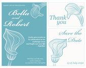 Wedding or invitation card. abstract vector flower pattern backg — Stock Vector