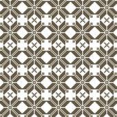 Abstract vector flower ukrainian pattern background — Stock Vector