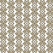Brown abstract vector flower ukrainian pattern background — Stock Vector
