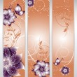 Vector floral decorative banner. abstract background with butterfly — Stock Vector #28347103