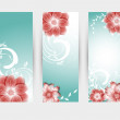 Vector floral decorative banner. abstract background — Stock Vector #28724125