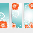 Vector floral decorative banner. abstract background — Stock Vector