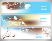 Abstract flower banners. Vector Backgrounds. — Stock Vector
