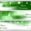 Christmas Abstract Banners. Vector Backgrounds. — Stock Vector