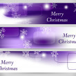Christmas Abstract Banners. Vector Backgrounds. — Stock Vector #30864099