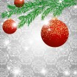 Christmas ball decorate card vector illustration — 图库矢量图片