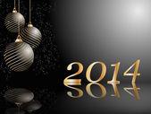 Tarjeta de año nuevo vector estilizada — Vector de stock