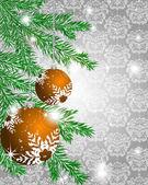 Christmas ball decorate card vector illustration — Stock Vector