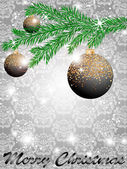 Christmas ball decorate card vector illustration — Stockvektor