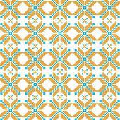 Abstract vector flower ukrainian pattern background — Wektor stockowy
