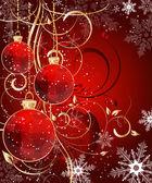 Jul triangel mönster boll dekorera kort — Stockvektor