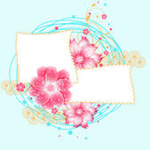 Floral scrapbook card. — Stock Vector