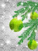 Weihnachten dreieck muster ball schmücken karte — Stockvektor