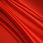 Abstract red silk fabric for background — Stock Vector