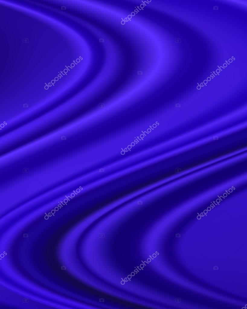抽象背景为蓝色丝绸面料