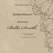 Wedding or invitation card — Stock Vector