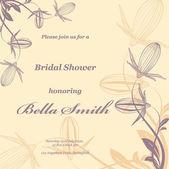 Wedding or invitation card — 图库矢量图片