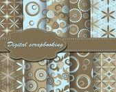 Pattern paper for scrapbook — Stock Vector
