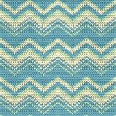 Seamless zigzag vector knitted background — Stock Vector