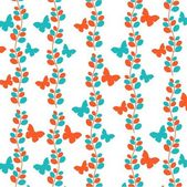 Vector flower abstract pattern background — Stock Vector