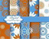Set of vector abstract pattern paper — Stock Vector
