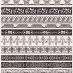 Big Set Of Vector Decorative Border Lines — Stock Vector