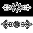 Set Of Two Vintage Ornate Frames. — Stock Vector