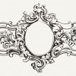 Stock Vector: Antique Ornate Frame Engraving