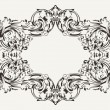 Stock Vector: Old Antique High Ornate Frame