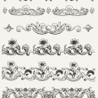 Set Of Original Vintage Calligraphic Design Elements - Stock Vector