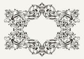 Old Antique High Ornate Frame — Stock Vector
