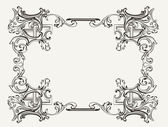 Original Renaissance Ornate Frame — Stock Vector
