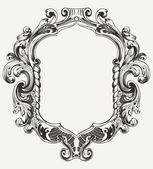 Vintage High Ornate Original Royal Frame — Stock Vector