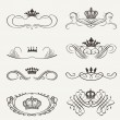 Victorian Scrolls and crown. Decorative Dividers. Vintage — Stock Vector #31733837