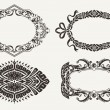 Set Of Four Ornate Frames — Stock Vector